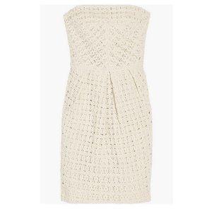 Tibi Dresses - Tibi crochet strapless dress